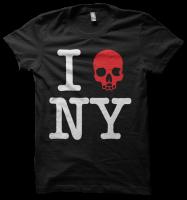 I [skull] NY Tee