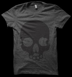 skull tee - charcoal
