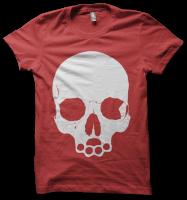 Skull Tee (red)