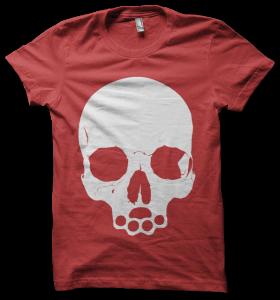 skull tee - red