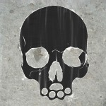 Desktop Background: Skull Stencil (1600x900)