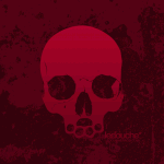 Tablet Background: skull (merlot)